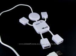 USB-hub  Человечек  разветвитель - 4 порта