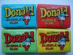 Коллекционная жвачка Дональд. Жевательная резинка Donald из 90-х