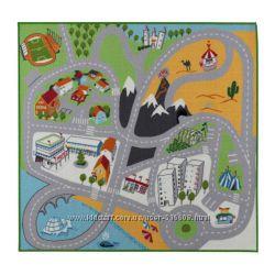 Ковер с коротким ворсом в детскую - карта, IKEA