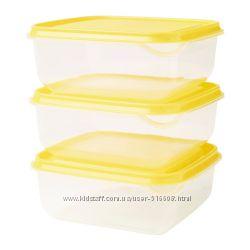 Пищевые контейнеры 3 шт IKEA PRUTA 90335843