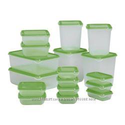 Контейнеры для хранения продуктов на все случаи жизни 17 шт IKEA