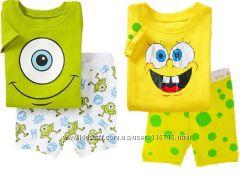 Пижамы с коротким рукавом 19 моделей Gap baby в наличии размеры 2Т-7Т