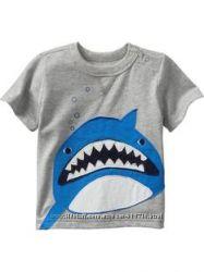 Футболка размеры  6Т серая с акулой в наличии