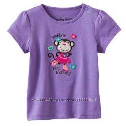 Футболка Jumping beans 4T фиолетовая с мартышкой в наличии