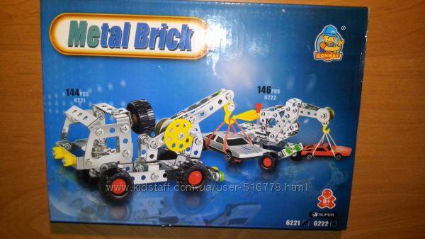 Конструктор детский металл -пластик 2 вида новый