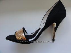 Miss Sixty вечерние туфли черная замша с золотом 36р