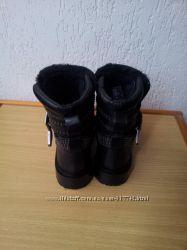 Кожаные ботинки zara СКИДКА