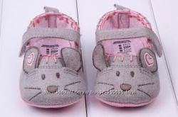 Пинетки для девочек. Обувь новорожденным в наличии