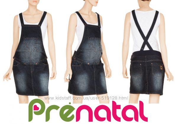 Джинсовий комбинезон юбка для беременных Prenatal Италия