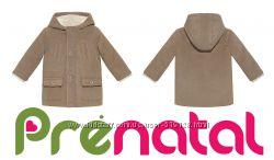 Пальто деми с капюшоном для мальчиков 1-2 года фирмы Prenatal Италия