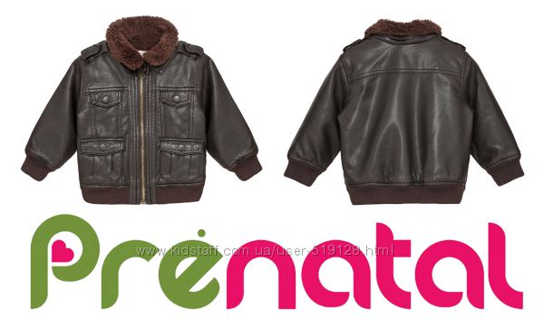 Куртки под кожу для малышей 3-12 мес фирмы Prenatal Италия