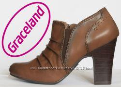 Ботинки женские демисезонные на столбике 37р Graceland Германия