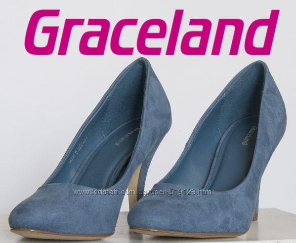 Туфли женские на шпильке под замшу 36р фирмы Graceland Германия