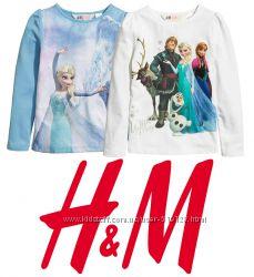 Регланы для девочки 1-8 лет Frozen, Minions, Inside Out фирмы H&M Швеция