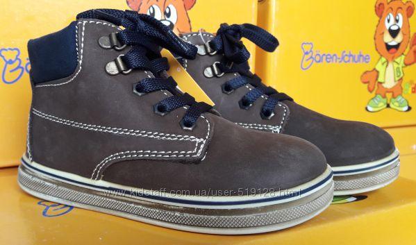 Кожанные ботинки для мальчика 21, 25р фирмы Baren Schuhe Германия
