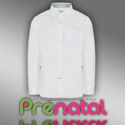 Рубашка классическая белая для мальчиков 2-3 года фирмы Prenatal Италия