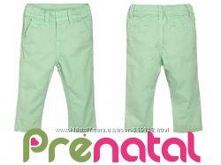 Штаны хлопковые мятного цвета для мальчика 1-5лет фирмы Prenatal Италия
