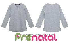 Однотонный серый реглан-туника для девочек 3-5 лет фирмы Prenatal Италия