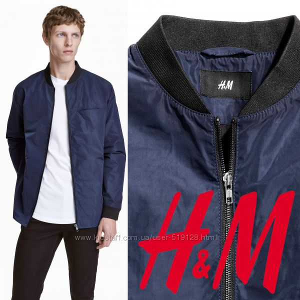 Легкая демисезонная куртка для мужчин XS, L фирмы H&M Швеция