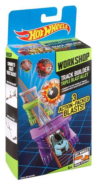 Разнообразные аксессуары для Hot Wheels Track Builder от фирмы Mattel