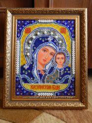 Картина вышивка икона