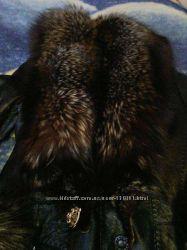 Обмен или продажа Чернобурка кожанное зимние пальто срочно