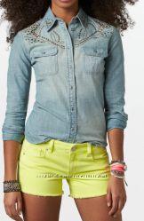 Стильная джинсовая рубашка American Eagl р. ХЛ
