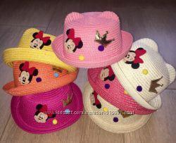 Шляпки детская  шляпка с Микки с Минни  с ушками с глазками