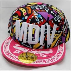 Яркая кепка кепки бейсболка снэпбек рэперка кепка с прямым козырьком MDIV