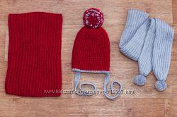 Зимний комплект шапка шарф и снуд