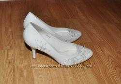 Туфли свадебные белые 38 размера
