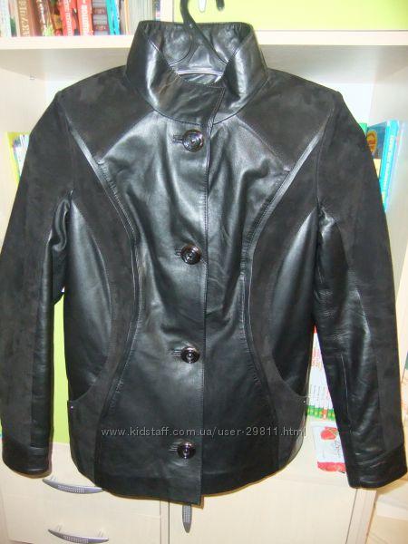 Очень красивая кожаная курточка Salino collection