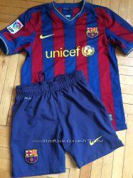 Футбольная форма FC Barcelona, оригинал, р. М, 8-10лет