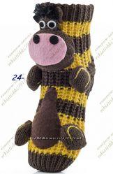 Детские тепленькие носочки с игрушкой отличный сюрприз. последняя пара