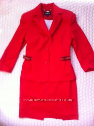 Эксклюзивный красный костюм Carla 36 разм