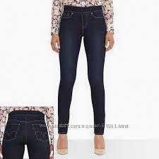 Утягивающие джинсы скинни  LEVIS синие, темносиние  с 26 до 32 размера