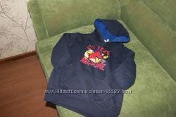 Толстовка Angry birds, кофта с капюшоном Crazy 8 на 4-5 лет