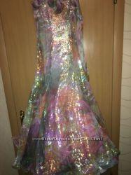 Красивое бальное платье для бальных танцев стандарт