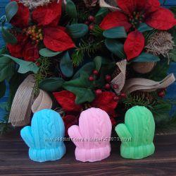 Подарки к Новому году мыло варежка