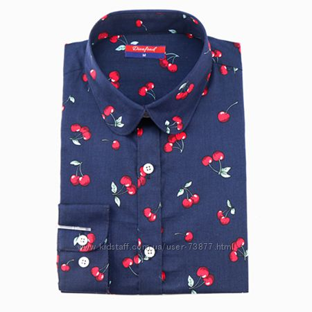 Блузки для модных девчонок,  с вишневым принтом