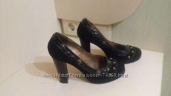 Туфли женские , натуральные замш и кожа