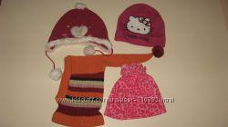 Пакет шапок теплых на 1-2-3 года, 4шт
