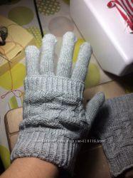 Перчатки митенки 2 в 1