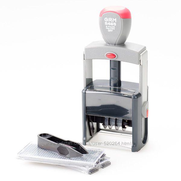 Самонаборный датер GRM 5465 Dater DIY 2 pads размер штампа 58 х 36 мм