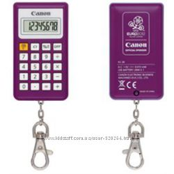 Калькулятор-брелок Canon KC-30-PP 8 digit EURO 2012 Purple 2291B043