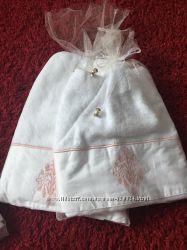 Набор элит полотенец банное и лицевое Тас бамбук с вышивкой по цене обычных