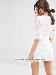 Торг акция забирай платье туника ASOS асос белое ажурное кружево кружевное