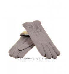 Женские перчатки кашемир, серые