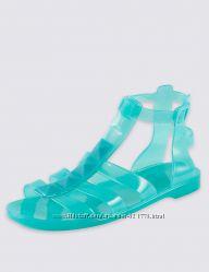 Силиконовые босоножки-гладиаторы для девочек Marks&Spencer , размеры 32-37