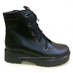Ботинки зимние на платформе, 36-41, кожа